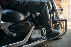 Rocznika siekacz z chromów elementami, rowerzyści zdjęcie stock