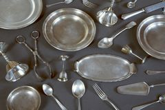 Rocznika silverware obraz stock