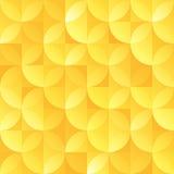 Rocznika sircle kształta wektoru złocisty retro bezszwowy wzór ilustracji