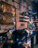 Rocznika sklep w Toronto zdjęcie stock