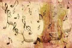 Rocznika skrzypce tło Zdjęcie Stock