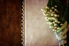 Rocznika skutek na fotografia bukiecie leluje dolina i spac Obraz Royalty Free