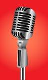 Rocznika srebny mikrofon Zdjęcia Stock