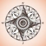 Rocznika stary antykwarski nautyczny kompas wzrastał royalty ilustracja