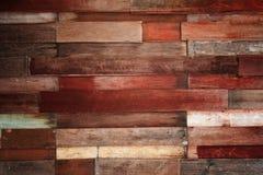 Rocznika stary drewno kasetonuje tło Fotografia Stock