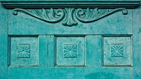 Rocznika Stary drzwi z projektami Obraz Stock