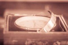 Rocznika stary morski chronometr, timepiece który jest precyzyjny i fotografia royalty free