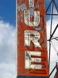 Rocznika stary neonowy znak Zdjęcia Stock