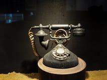 Rocznika stary telefoniczny antyk z konceptualnym życiem w Muzealnym Mandiri wciąż fotografia royalty free