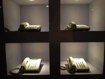 Rocznika stary telefoniczny antyk z konceptualnym życiem w Muzealnym Mandiri wciąż zdjęcie royalty free
