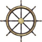 Rocznika statku Nautyczny koło Odizolowywający Obrazy Royalty Free