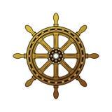 Rocznika statku steru logo Staromodny szorstki Obrazy Stock