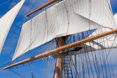 Rocznika statku Wysoki olinowanie Obrazy Royalty Free