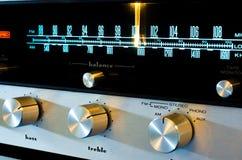Rocznika stereo odbiorca Zdjęcie Stock