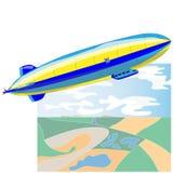 Rocznika sterowiec Dirigible balon royalty ilustracja