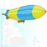 Rocznika sterowiec Dirigible balon ilustracji