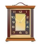 Rocznika stołowy zegar na białym tle Obrazy Stock