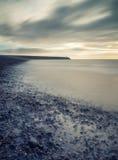 Rocznika stylu seascape krzyż przetwarzający ujawnienie długo zdjęcia stock