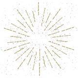 Rocznika Sunburst z Grunge teksturą wektor Obraz Stock