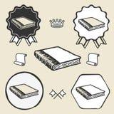 Rocznika symbolu emblemata etykietki książkowa kolekcja ilustracji