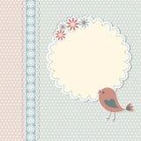 Rocznika szablon z ptakiem Zdjęcie Royalty Free