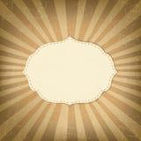 Rocznika szablon Z Sunbeams Zdjęcie Stock