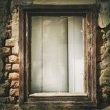 Rocznika szklany okno Zdjęcie Royalty Free