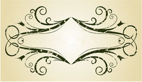 Rocznika sztandar Zdjęcia Stock