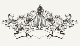 Rocznika sztandaru Wysoki Ozdobny tekst Obraz Royalty Free