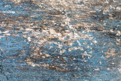 Rocznika tła błękitna drewniana tekstura z kępkami i gwóźdź dziurami niebieska tła abstrakcyjne Fotografia Royalty Free