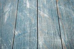 Rocznika tła błękitna drewniana tekstura z kępkami i gwóźdź dziurami stary malowaniu drewna niebieska tła abstrakcyjne Zdjęcia Royalty Free