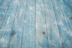 Rocznika tła błękitna drewniana tekstura z kępkami i gwóźdź dziurami stary malowaniu drewna niebieska tła abstrakcyjne Zdjęcie Royalty Free