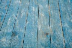 Rocznika tła błękitna drewniana tekstura z kępkami i gwóźdź dziurami stary malowaniu drewna niebieska tła abstrakcyjne Zdjęcia Stock