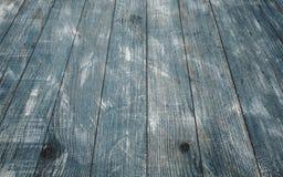 Rocznika tła błękitna drewniana tekstura z kępkami i gwóźdź dziurami stary malowaniu drewna niebieska tła abstrakcyjne Obraz Stock