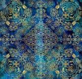 Rocznika tła stary kwiecisty lily błękit ilustracji
