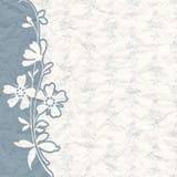 Rocznika tło dla zaproszenia z kwiatami Obraz Royalty Free