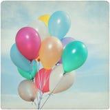 Rocznika tło kolorowi balony fotografia royalty free