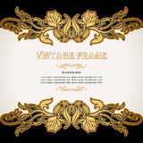 Rocznika tło, luksus, antyk, wiktoriański, kwiecisty ornament, royalty ilustracja
