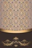 Rocznika tło z eleganckim ornamentem Zdjęcie Stock