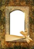 Rocznika tło z starą fotografii ramą Obrazy Royalty Free