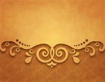 Rocznika tło, antykwarski kartka z pozdrowieniami, zaproszenie z kwiecistymi ornamentami Obraz Royalty Free