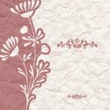 Rocznika tło dla zaproszenia z kwiatami Obrazy Stock