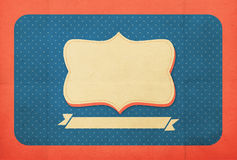 Rocznika tło, polki kropki styl obrazy royalty free