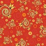 Rocznika tło w czerwonym kolorze Fotografia Royalty Free