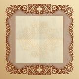 Rocznika tło z arabeskowymi ornamentami ilustracji