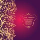 Rocznika tło z koronkowym ornamentem. Fotografia Royalty Free