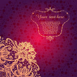 Rocznika tło z koronkowym ornamentem. Obrazy Royalty Free