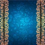 Rocznika tło z koronkowym ornamentem. royalty ilustracja