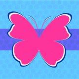 Rocznika tło z motylem Zdjęcie Royalty Free