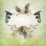 Rocznika tło z motylem Obraz Royalty Free